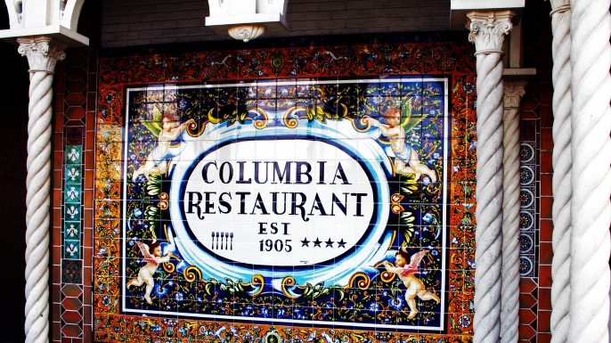 The historic Columbia Restaurant in downtown Ybor.  (Credit: Ron Williams/AP Photo)