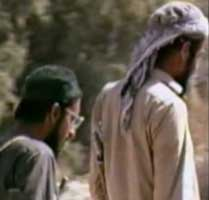Ayman al-Zawahiri (left) and Osama bin Laden in Afghanistan in the 1980s.