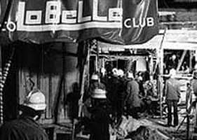 The La Belle disco in Berlin after it was bombed.