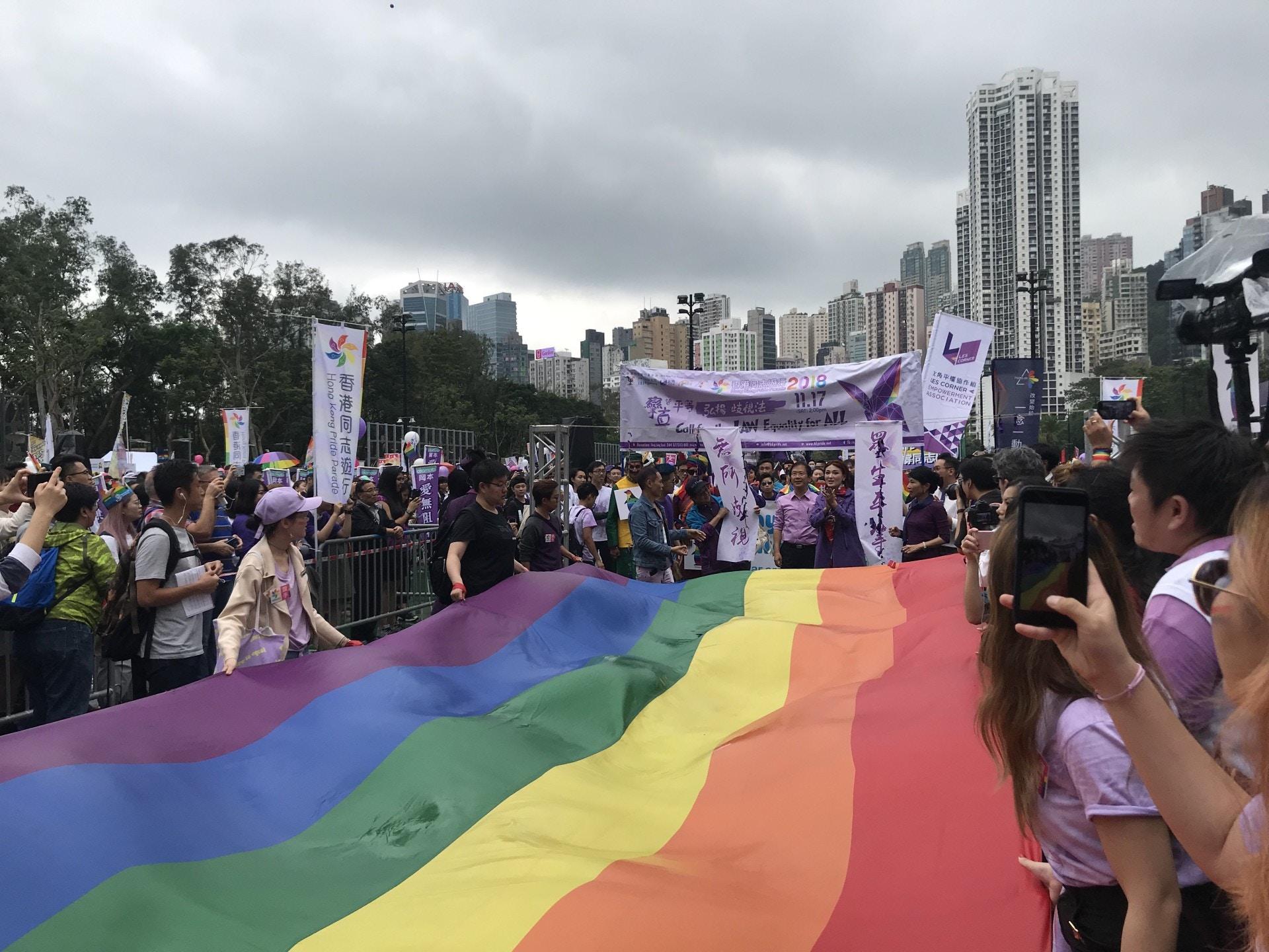【同志遊行】主辦團體:歧視法迫在眉睫 盼社會盡快履行立法責任 香港01 社會新聞