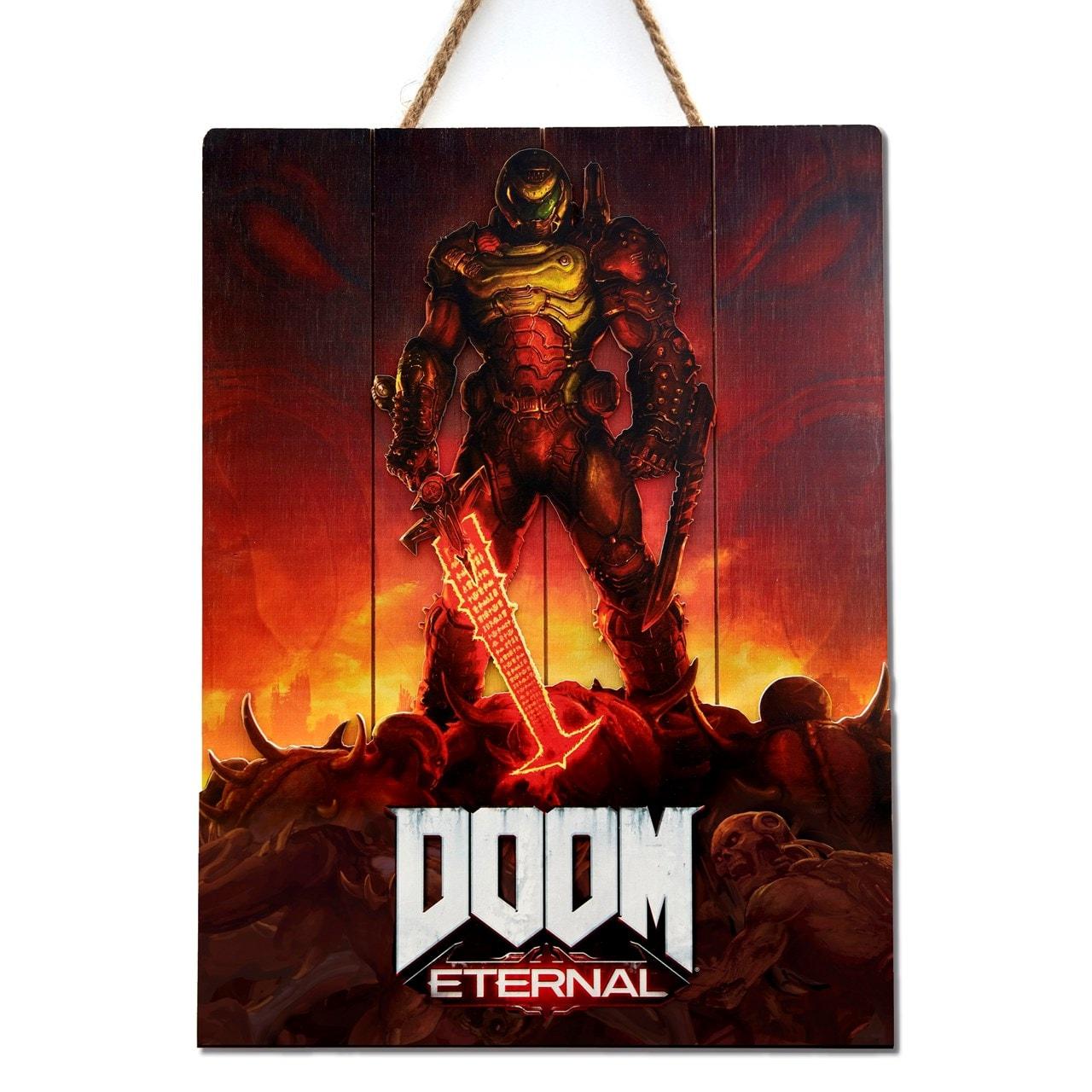 doom eternal limited edition 3d wood art wall art free shipping over 20 hmv store
