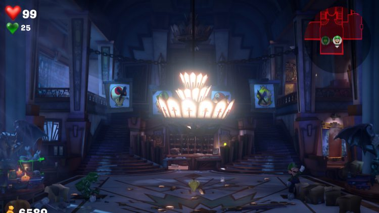 Image showing the location of the Yellow Gem in Floor 1.