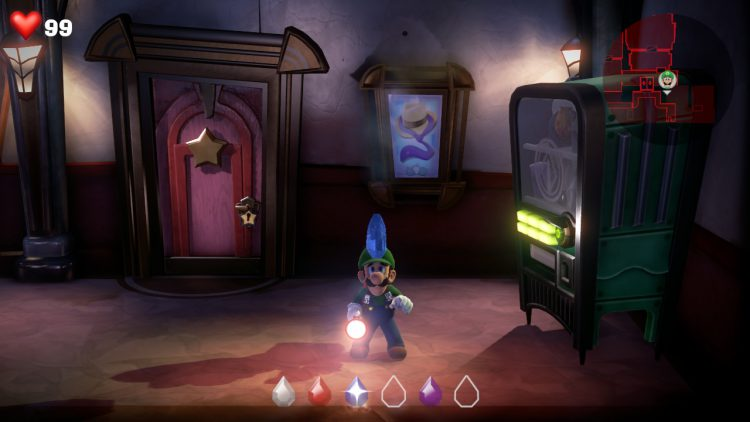 Image showing where to find the Blue Gem on Floor 3.