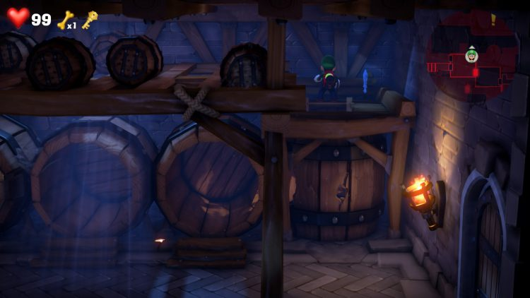 Image showing the Blue Gem Location Shelf in Cellar.