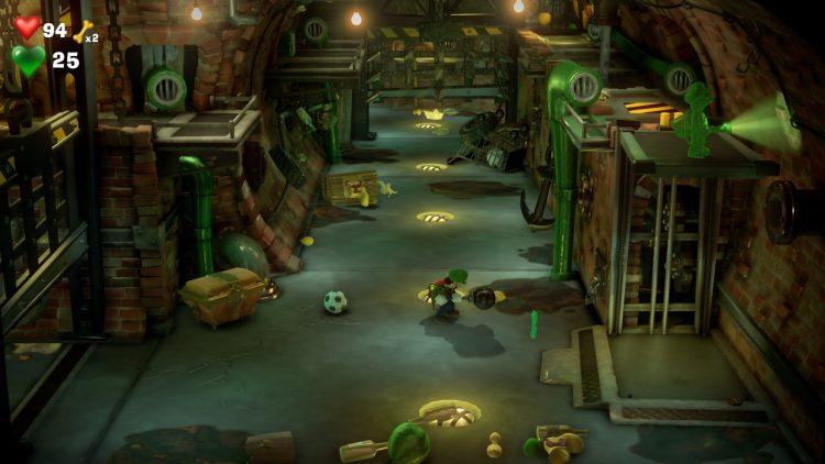 Green Gem Location Sewer B 750x422 - Luigi's Mansion 3 - Guida: come trovare tutte le gemme dei piani B2 e B1
