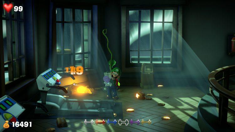 Purple Gem Location Ghost in Training Room 750x422 - Luigi's Mansion 3 – Guida: dove trovare tutte le gemme dei piani 13 e 14