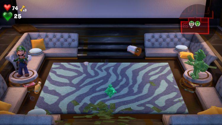 Purple Gem Location Elevator in Lounge 750x422 - Luigi's Mansion 3 – Guida: dove trovare tutte le gemme del piano 15