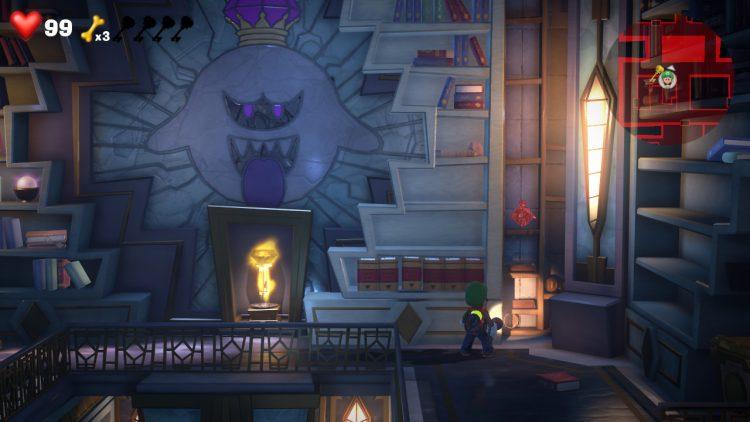 Red Gem Location Return Book in Library 750x422 - Luigi's Mansion 3 – Guida: dove trovare tutte le gemme del piano 15
