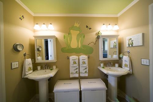 twin kids bathroom Kids Bathroom