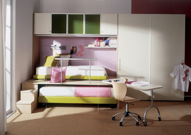 Kids bedroom designs by Mariani Apart from making kids rooms bright  ventilated and colorful  the focus is  on using sleek furniture giving way for space  This can be achieved through