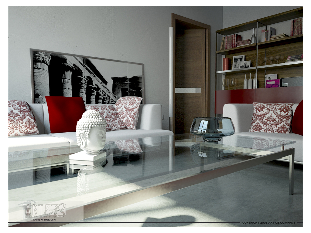 28 Red and White Living Rooms on Trendy Room  id=47145