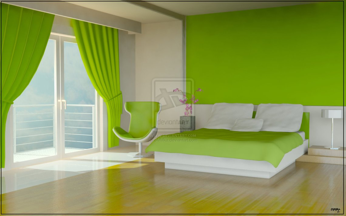 Girl Room Design Ideas Green Color Bedrooms