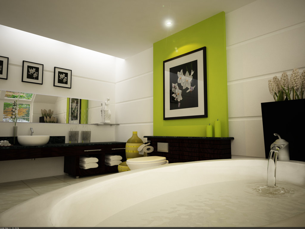 Inspiring Bathroom Designs for the Soul Lime green