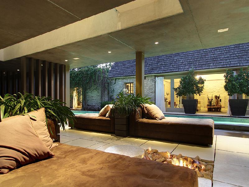Open Fire Place Interior Design Ideas