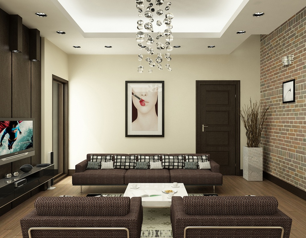 nguyen brown and white living room   Interior Design Ideas  Like Architecture   Interior Design  Follow Us