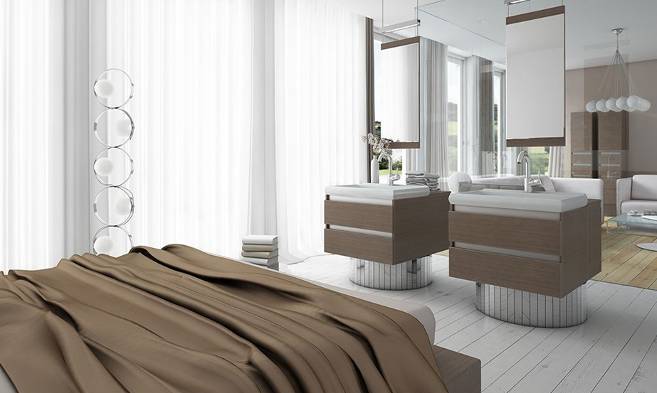 Bedroom With Sink Interior Design Ideas