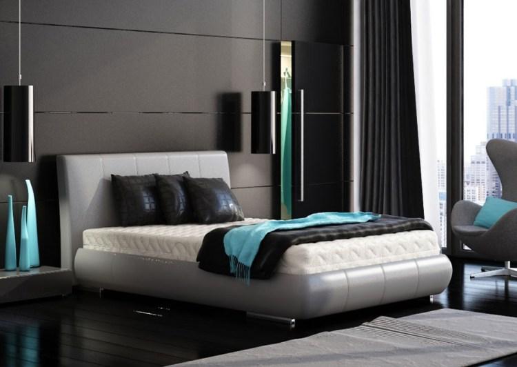 Black Bedroom Turquoise Accentsinterior Design Ideas