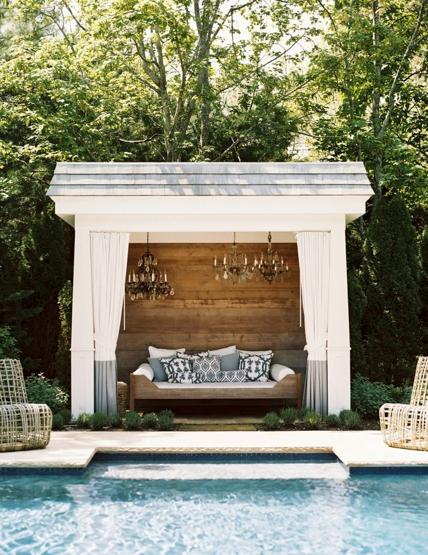 luxury poolside cabana | Interior Design Ideas. on Cabana Designs Ideas id=49964