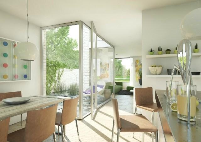 | Bright white kitchen dinerInterior Design Ideas.