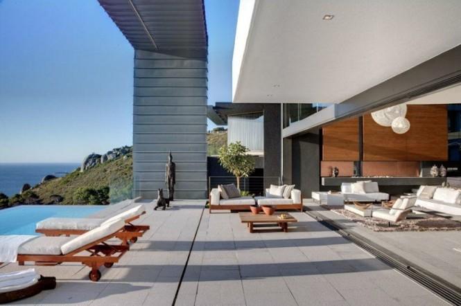 Luxury sun deck sea view