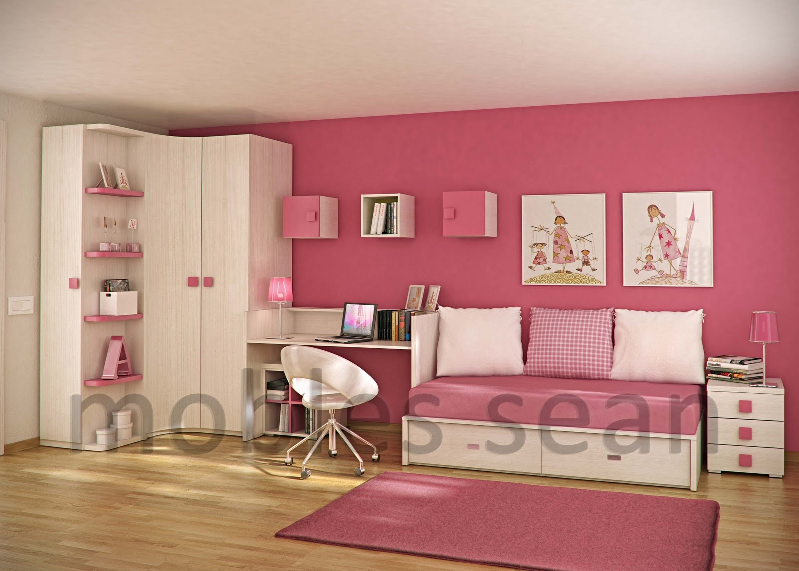Space-Saving Designs for Small Kids Rooms on Picture Room Decor  id=36265