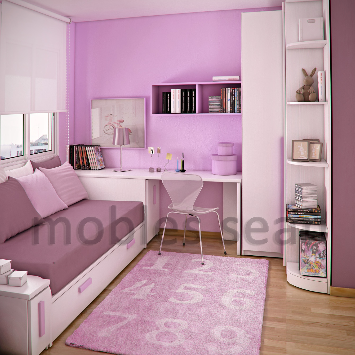 Space-Saving Designs for Small Kids Rooms on Girls Bedroom Ideas For Very Small Rooms  id=23357