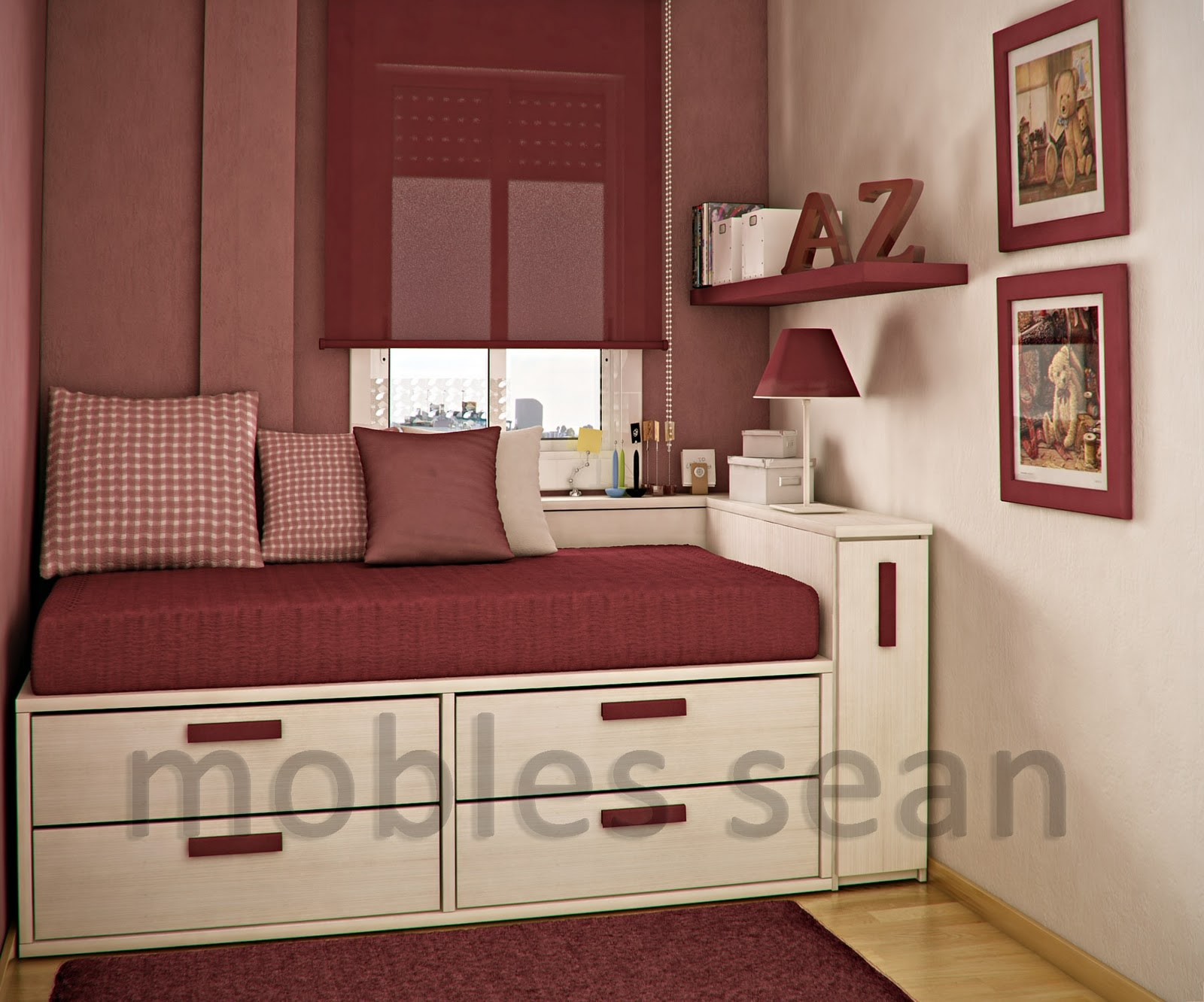 Space-Saving Designs for Small Kids Rooms on Bedroom Ideas For Small Spaces  id=14792
