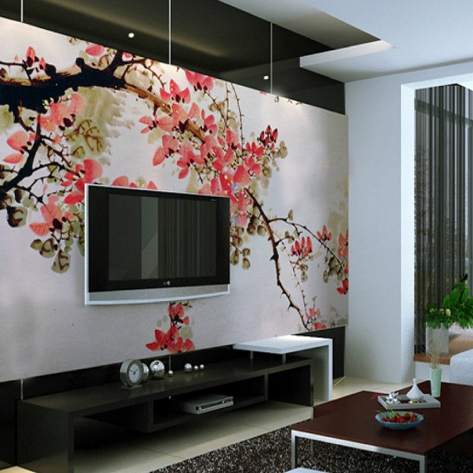 Chinese Cherry Blossom Wall Mural
