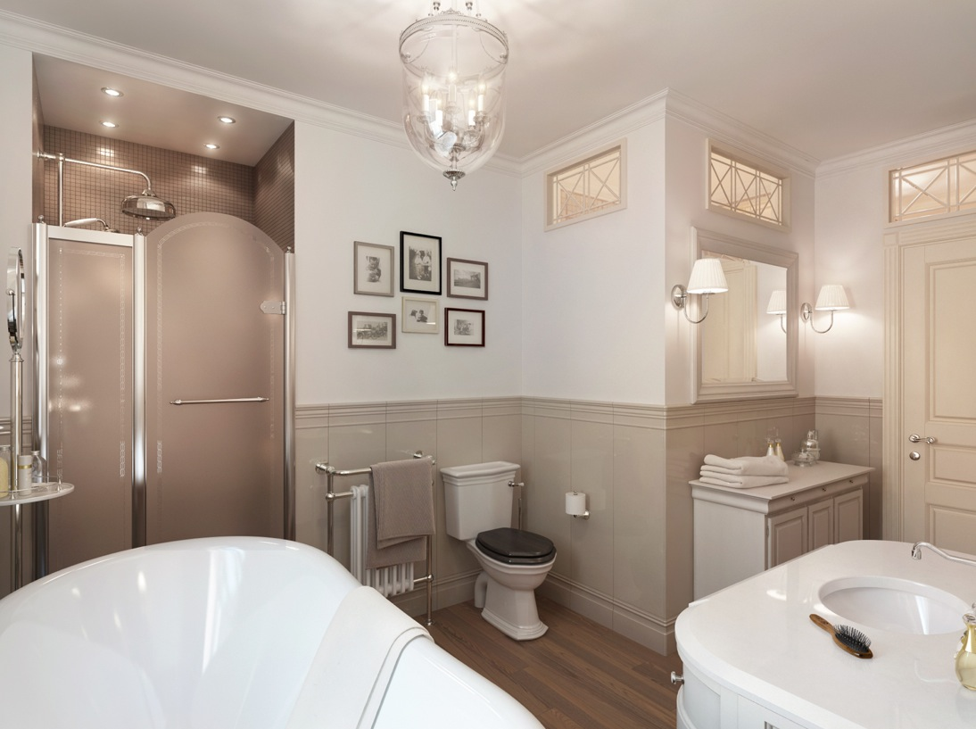 Neutral Traditional Bathroom