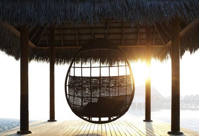W Retreat Maldives deck porch swing