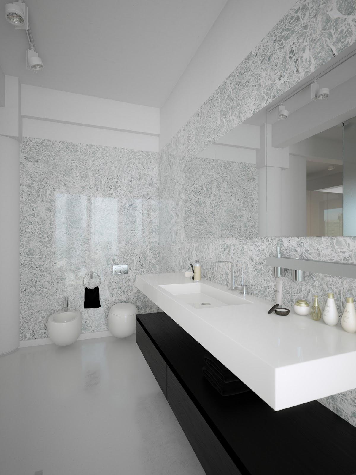 Best Kitchen Gallery: Black White Contemporary Bathroom Design Interior Design Ideas of Contemporary Bathroom Design  on rachelxblog.com