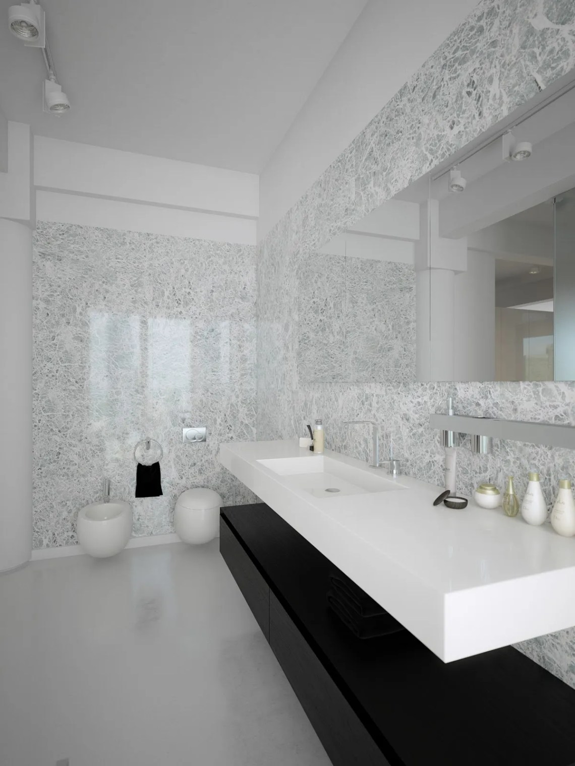 Black white contemporary bathroom design | Interior Design ...