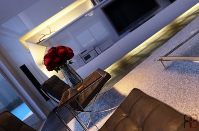 Black white lounge