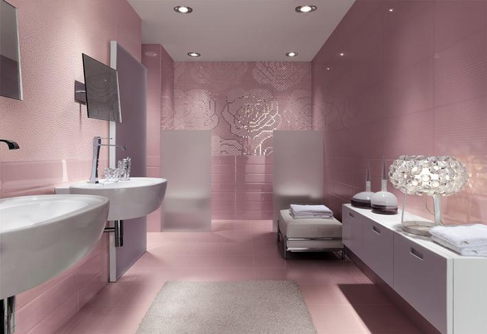 Floral metallic bathroom mosaic tiles | Interior Design Ideas. on Floral Tile Bathroom Ideas  id=54914