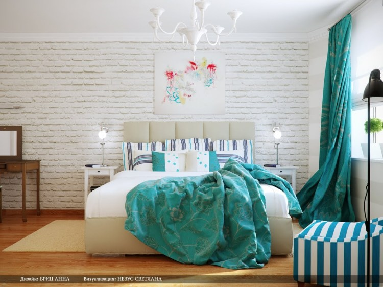 Turquoise White Bedroom Decor Schemeinterior Design Ideas