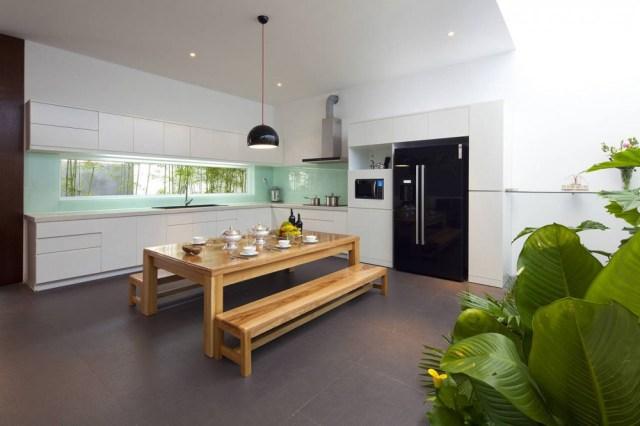 Contemporary kitchen diner layout | Interior Design Ideas.