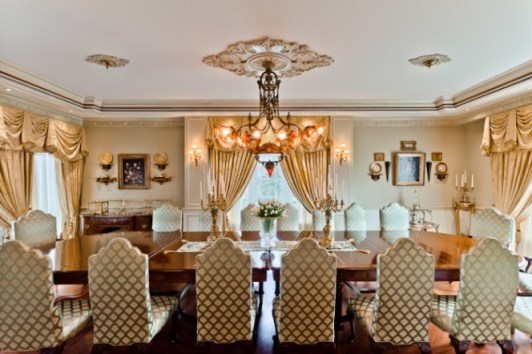 celebrity house dining