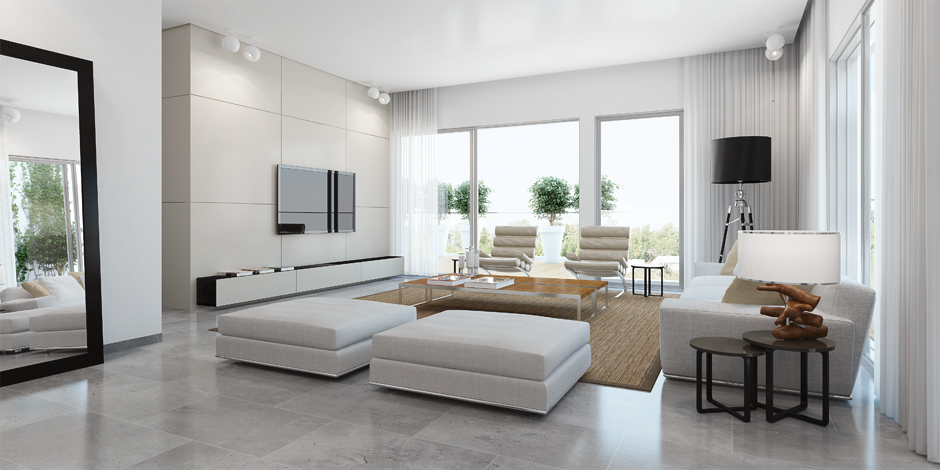 Modern White Living Room Interior Design Ideas Part 49