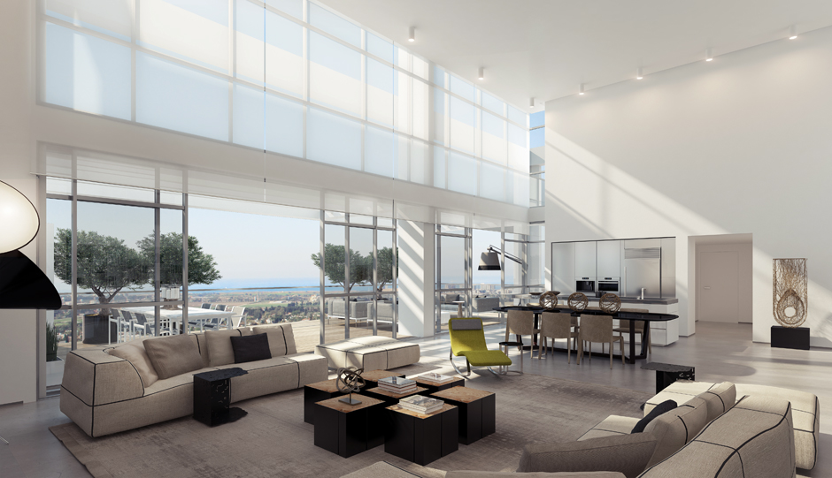 4 Retractable Glass Doors Living Room Interior Design Ideas