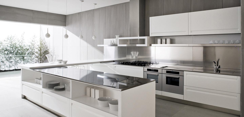 Contemporary White Kitchen Interior Design Ideas