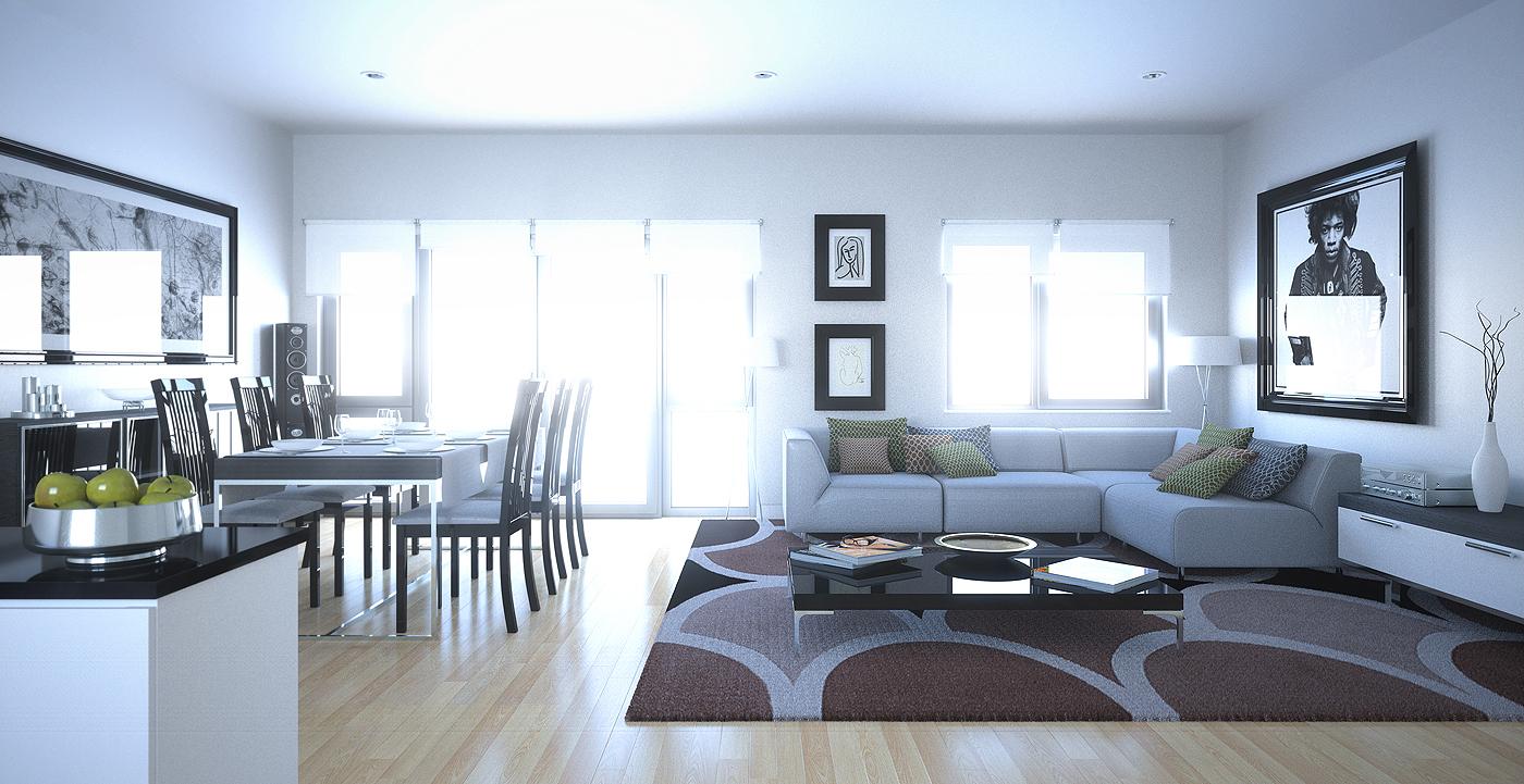 Brown White Green Decor Interior Design Ideas