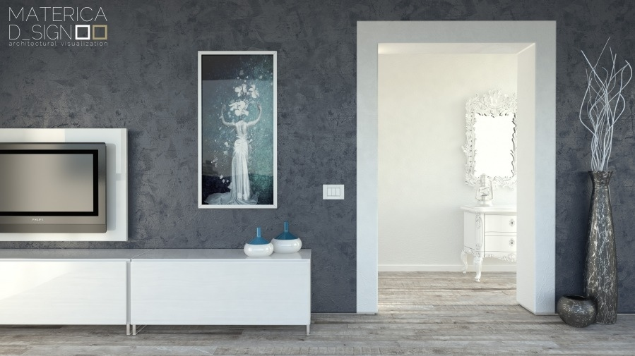 Gray Feature Wallinterior Design Ideas