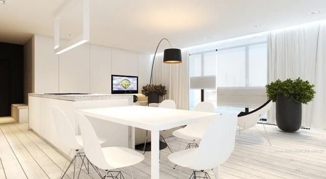 White kitchen diner
