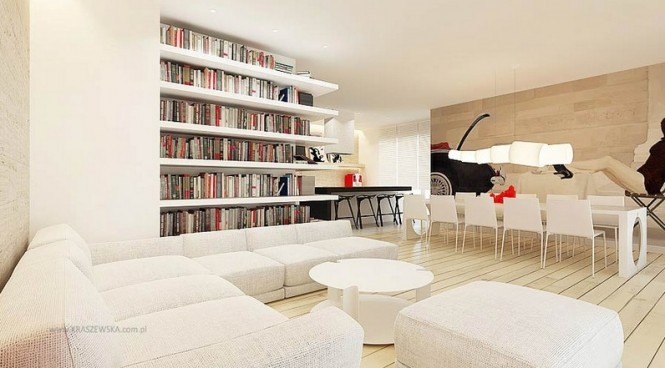 White living room diner