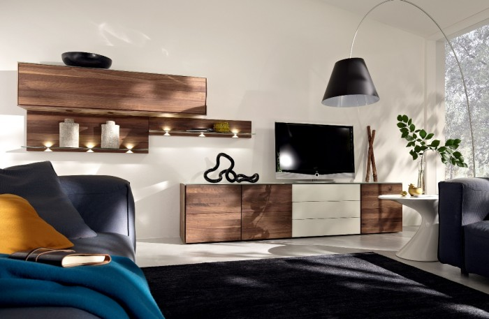 artisan crafted raw wood media unit