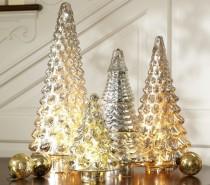 metallic christmas decor