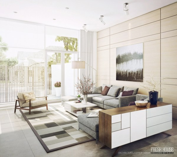 neutral living room decor Light-Filled Contemporary Living Rooms