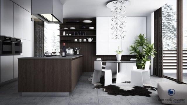 modern kitchen with dining area | Interior Design Ideas.