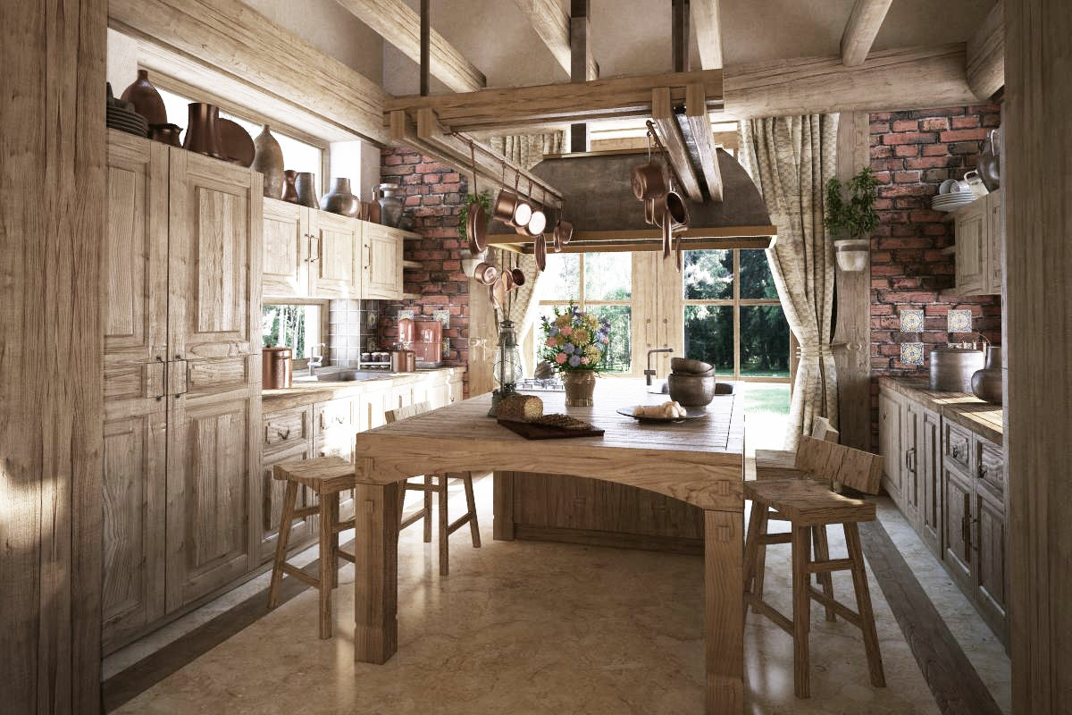 11 Luxurious Traditional Kitchens on Rustic Traditional Decor  id=98440