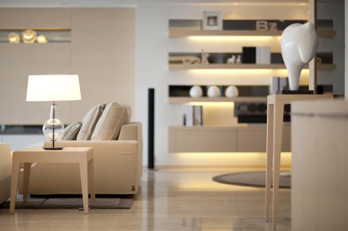 light white accessorized shelves livng steve leung